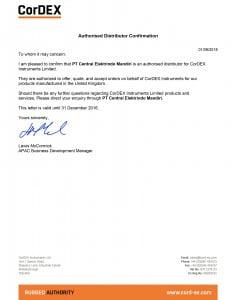 authorized distributor cordex indonesia